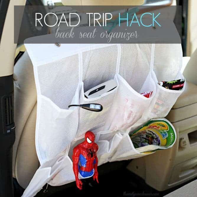 #RoadTripHacks: Back Seat Organizer #Albertsons (ad)