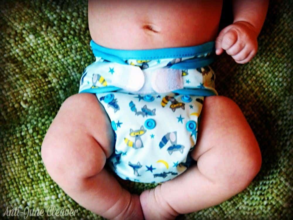 Sweet Pea newborn cloth diaper review - newborn diaper cover and prefold
