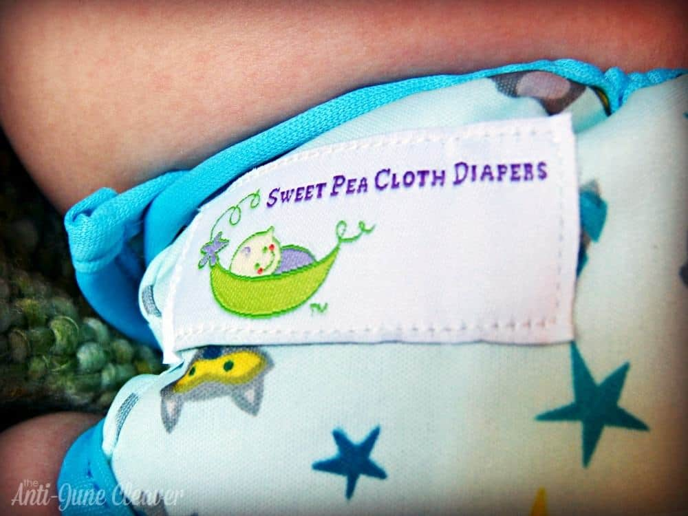 Sweet Pea newborn cloth diaper review - newborn diaper cover and prefoldSweet Pea newborn cloth diaper review - newborn diaper cover and prefold
