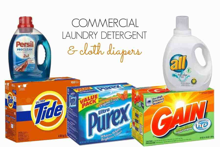 Commercial laundry detergent and cloth diapers