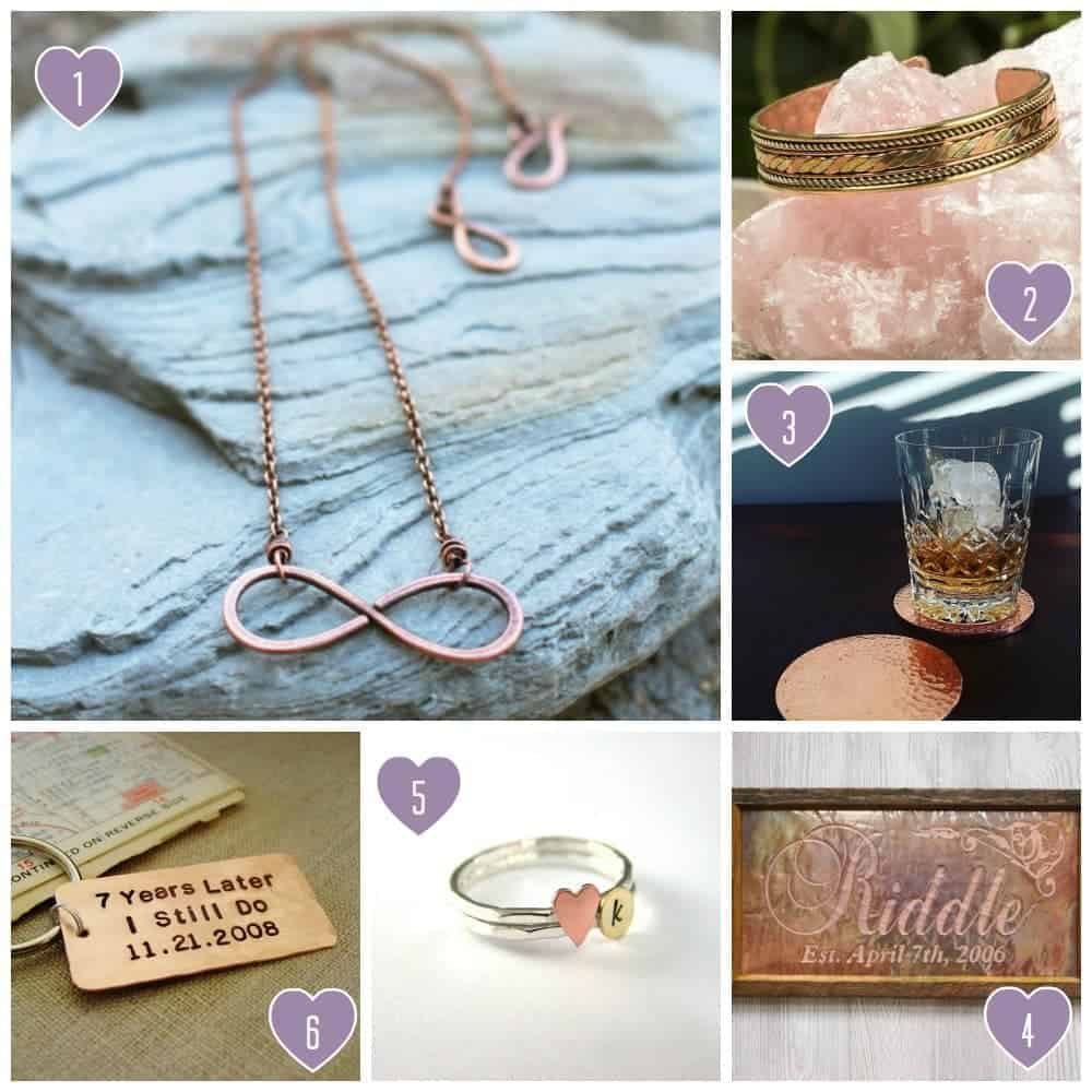 7th Anniversary Gift Ideas for Him and Her: Copper