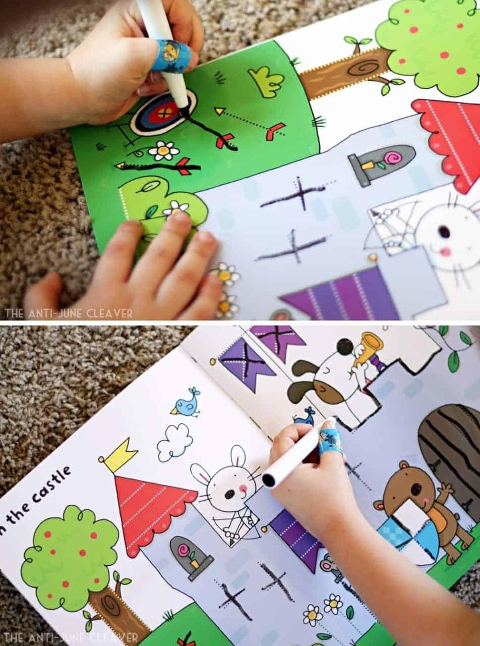 Getting Ready for Kindergarten with wipe-clean books Kids, school, learning activities, preschool