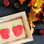 Apple Shaped Back to School Cookies for First Day of School Smiles