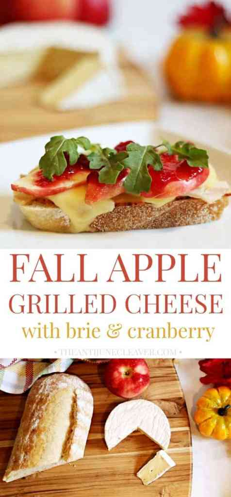Apple Grilled Cheese with Brie & Cranberry Make the Perfect Fall Sandwich
