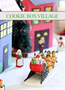 Christmas Crafts - Cookie Box Village #christmas #holidays #christmascraft #crafts #diy