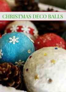 Christmas Crafts - Holiday Deco Balls #christmas #holidays #christmascraft #crafts #diy