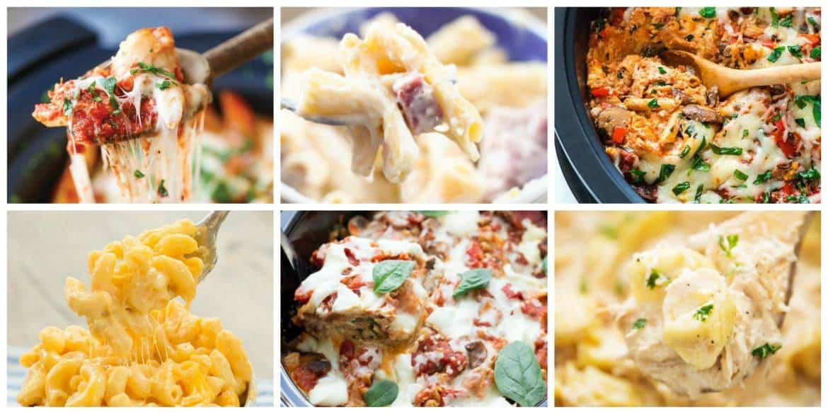 Comforting Slow Cooker Meals - Pasta Recipes #crockpot #slowcooker #pasta #crockpotpasta #crockpotmeals #slowcookermeals