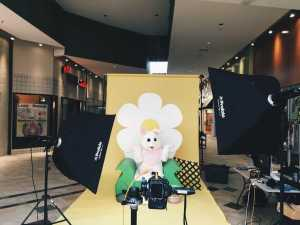 One of the F/Stop members poses in the bunny suit for the club's annual Easter Bunny Shoot at Boone Mall. Parents bring their kids for Easter photos and students get experience at a real shoot with clients and studio equipment.