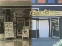 Theater entrance in 1947 compared with today's. Images courtesy of the Sams family and the Appalachian Theatre of the High Country.