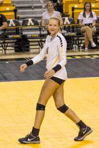 Freshman outside hitter Emma Longley.