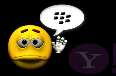 Yahoo Discontinues its App From BlackBerry