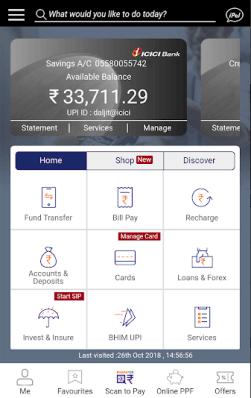ICICI iMobile App screenshot