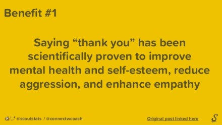 benefits of thank you
