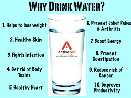 water benefits in healthy lifestyle tips