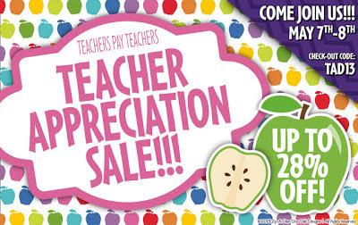 Teacher Appreciation Sale and Fraction Unit!