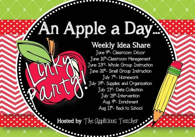 An Apple a Day Linky Party- Classroom Management