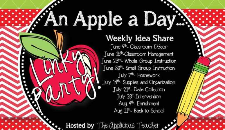 An Apple a Day Linky Party- Classroom Decor