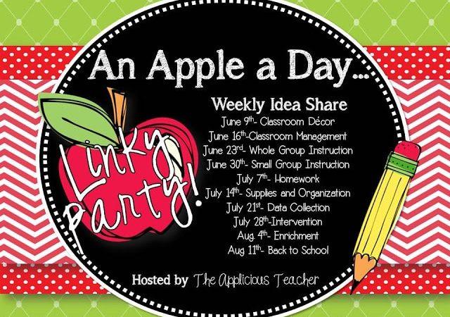 Homework! Oh Homework! An Apple a Day Linky Party