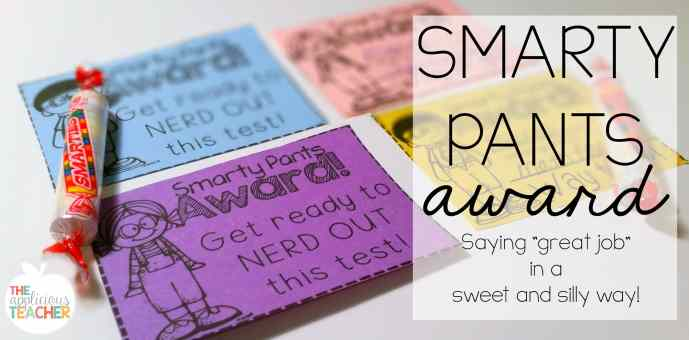 Smarty Pants Award tags for smarites candies