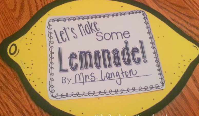 Lemonade, Shapes, and a Compound Word FREEBIE