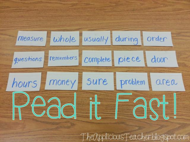 Read it Fast: sight word fluency building game