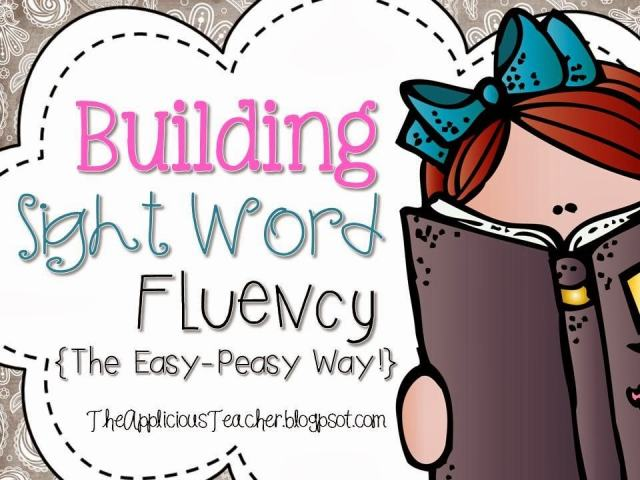 Building Sight Word fluency using games!