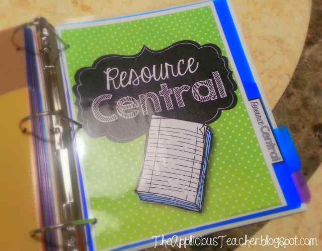 Resources to keep in your student data binder