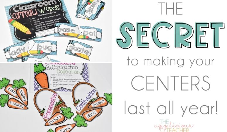 The Secret to Making Your Centers Last All Year: Back-to-School Edition