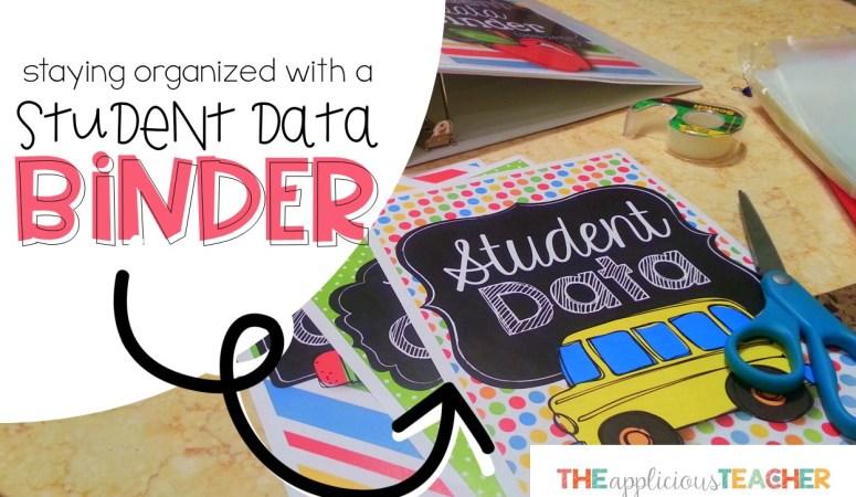 DIY: Student Data Binder