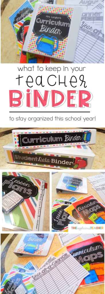 This is a MUST-HAVE for any teacher who wants to save her sanity in the new school year. Learn all about what a Teacher Binder is and what you should have in it to save yourself from end of year stress year after year! TheAppliciousTeacher.com