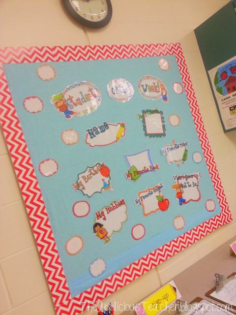student of the week bulletin board