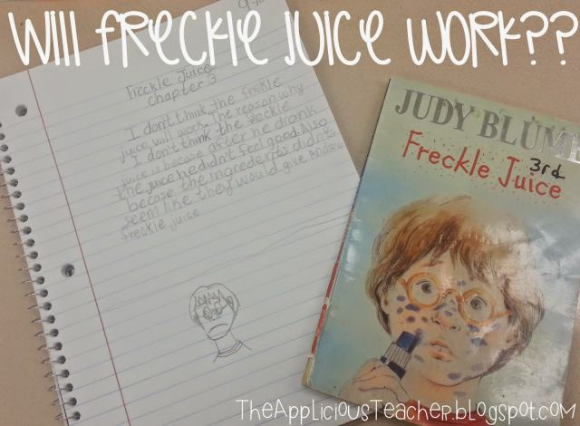 freckle juice writing response