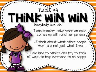 The Leader in Me Think Win Win