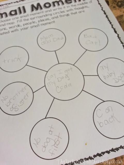 small moments writing bubble map for writing