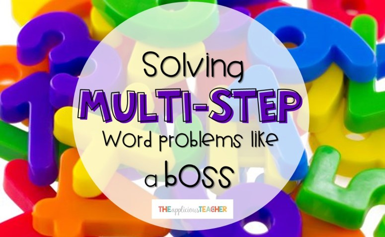 Activities for solving multi-step word problems like a boss!