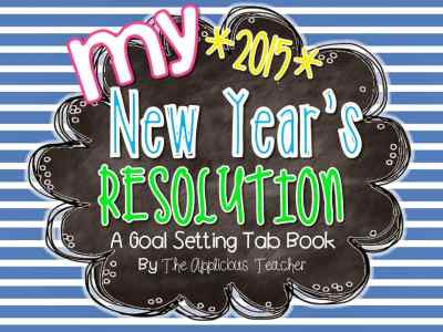 2015 New Year's Resolutions Tab Book