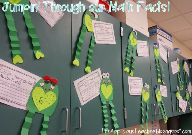 Jumpin' through our math facts craft