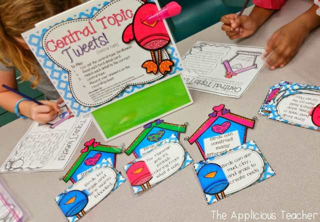 spring literacy centers- main idea and details