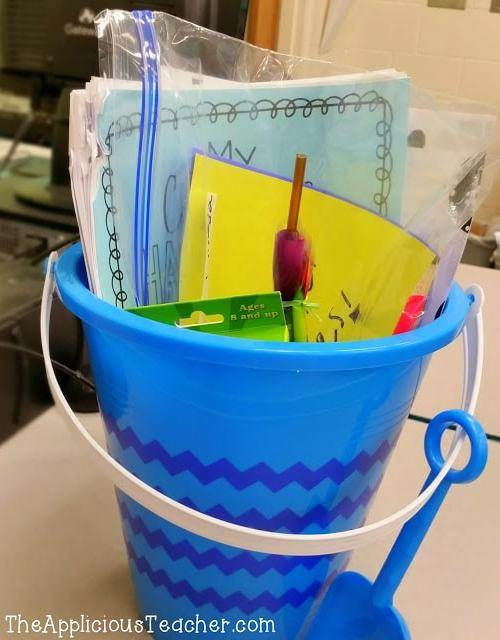 summer packet alternatives- summer review bucket- Th eApplicious Teacher