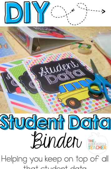 organize all that data with a student data binder!