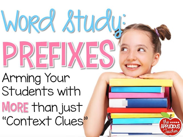 Word Study: Prefixes- Prefix activities for third grade