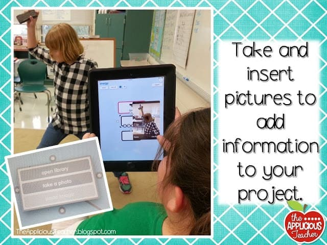 how to insert pictures into popplet