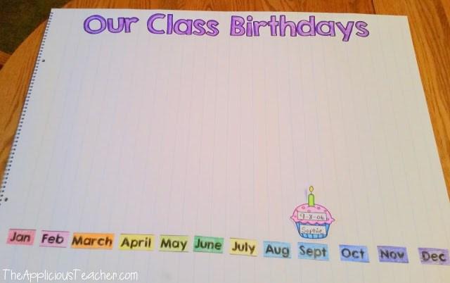 Graphing class birthdays