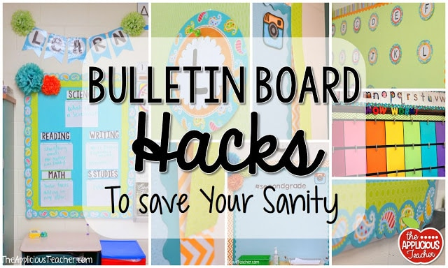 Creative Classroom Door Decorations ~ Bulletin board hacks to save your sanity the applicious