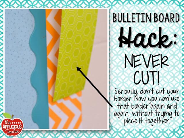 Bulletin board hack: never cut your border