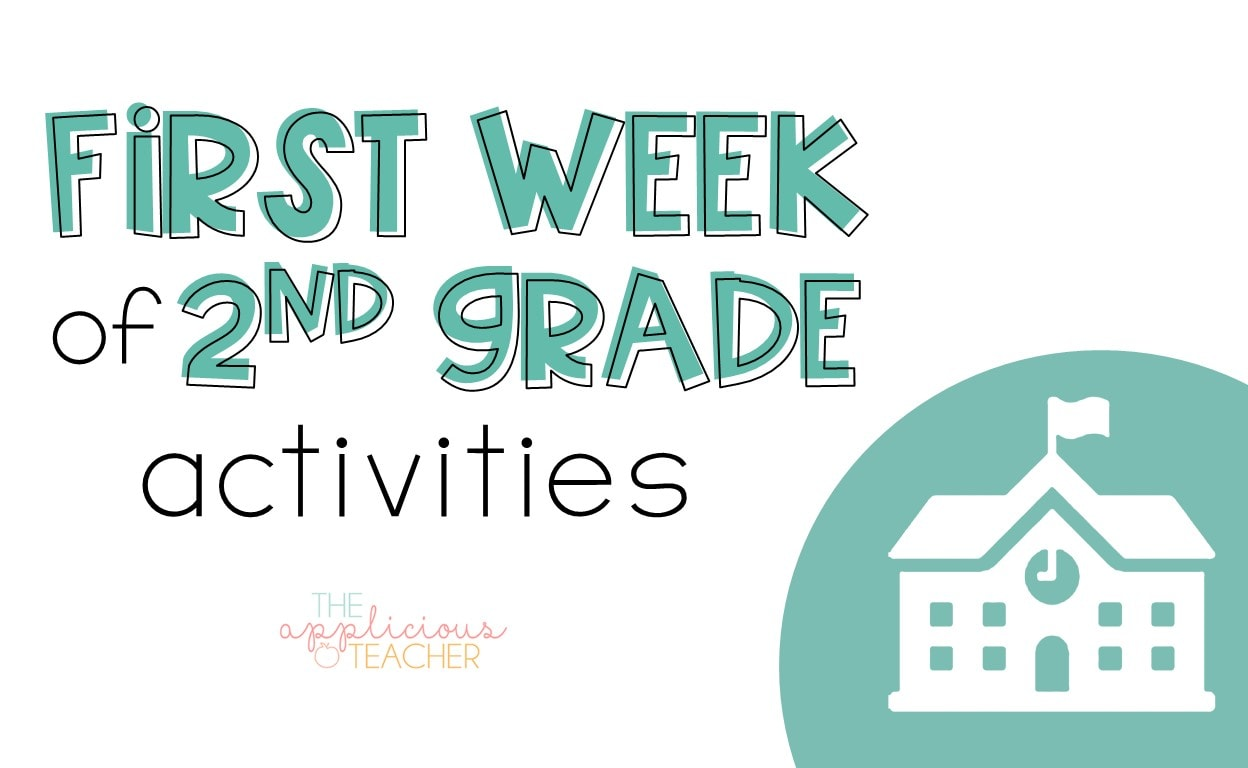 First week of second grade: Reading and Math activities