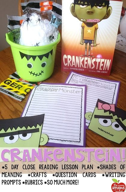Crankenstein activities! Love this book for getting your students excited about close reading.