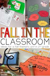 Fall Thematic unit ideas. These ideas are perfect for a 2nd grade classroom.