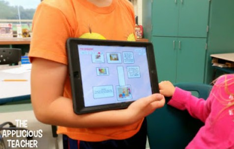 """Using the app, Poplet to retell a favorite """"Gingerbread"""" story"""