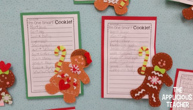 strong word choice gingerbread man activity